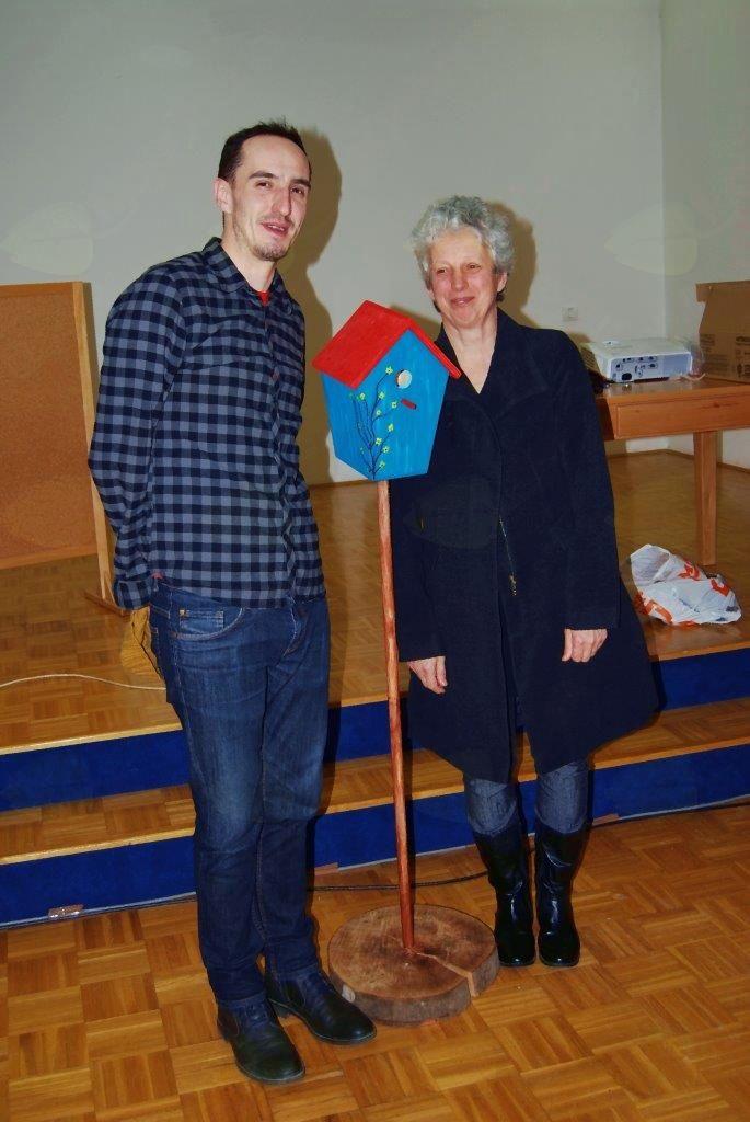 Avtorica Ivanka Zagorc in ilustrator domačin Rožle Matko