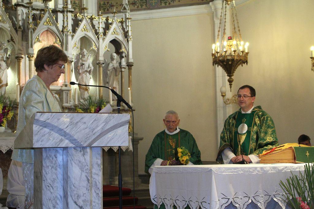 Slovo od duhovnikov Janeza Kvaternika in Cirila Oražma, ter gospodinje Mari Štiftar