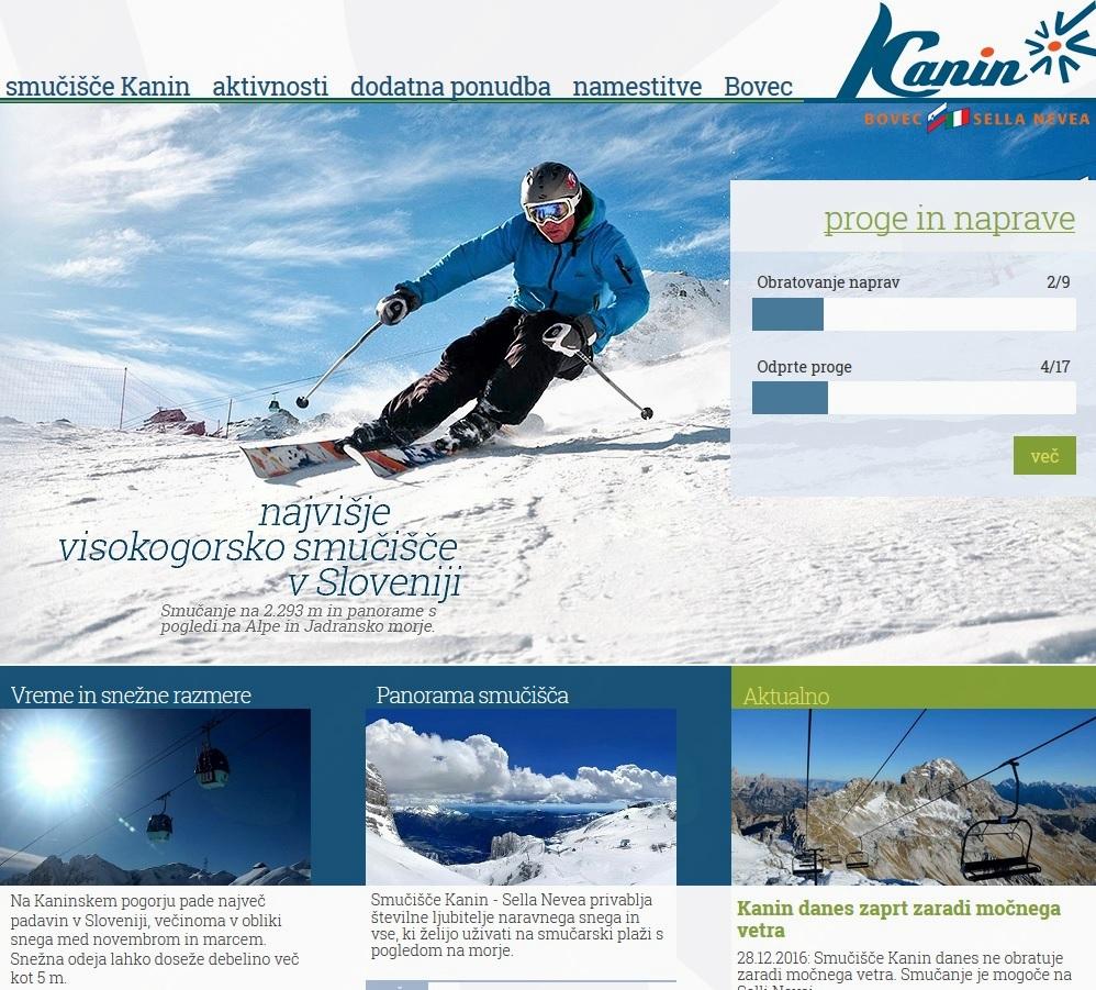 Smučišče Kanin ima novo spletno stran