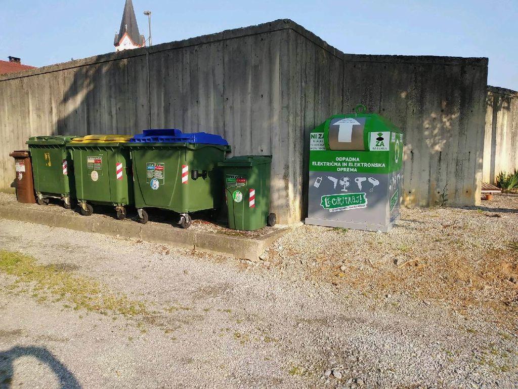 Lokacija zbiralnika v Mirni Peči