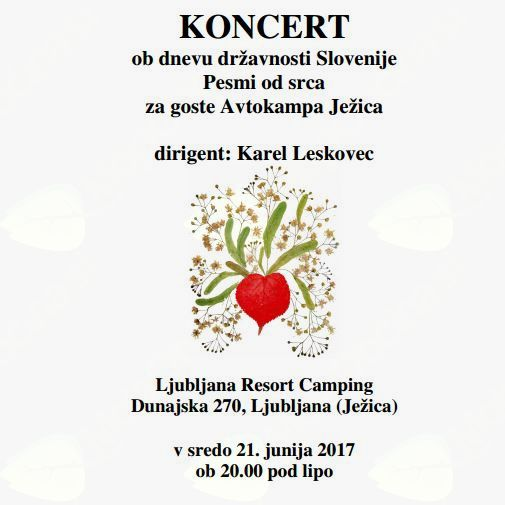 KONCERT ob dnevu državnosti Slovenije Pesmi od srca
