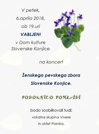 Podoknica pomladi, koncert Ženskega pevskega zbora Slovenske Konjice