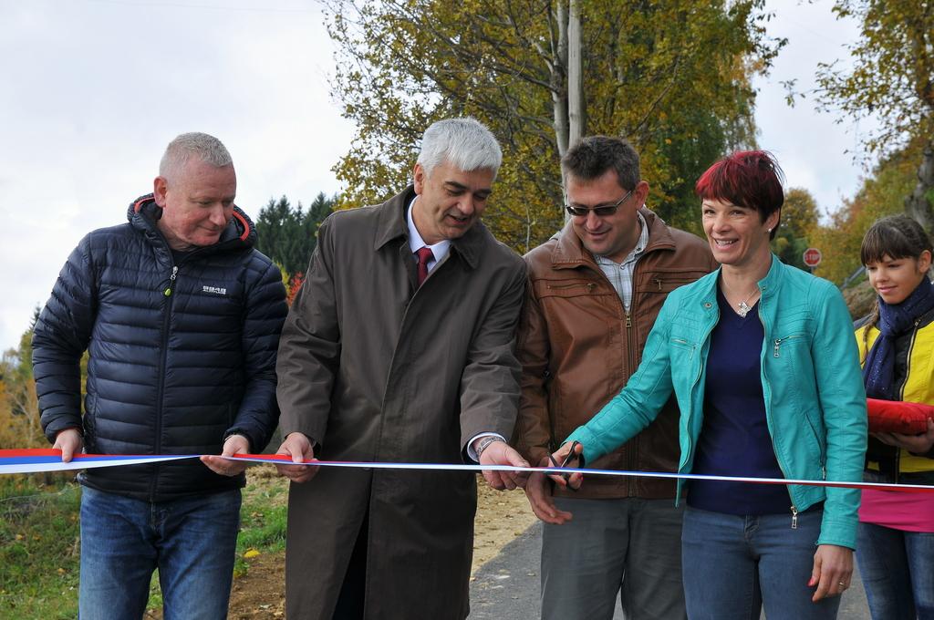 Otvoritev rekonstrukcije ceste Koroška vas