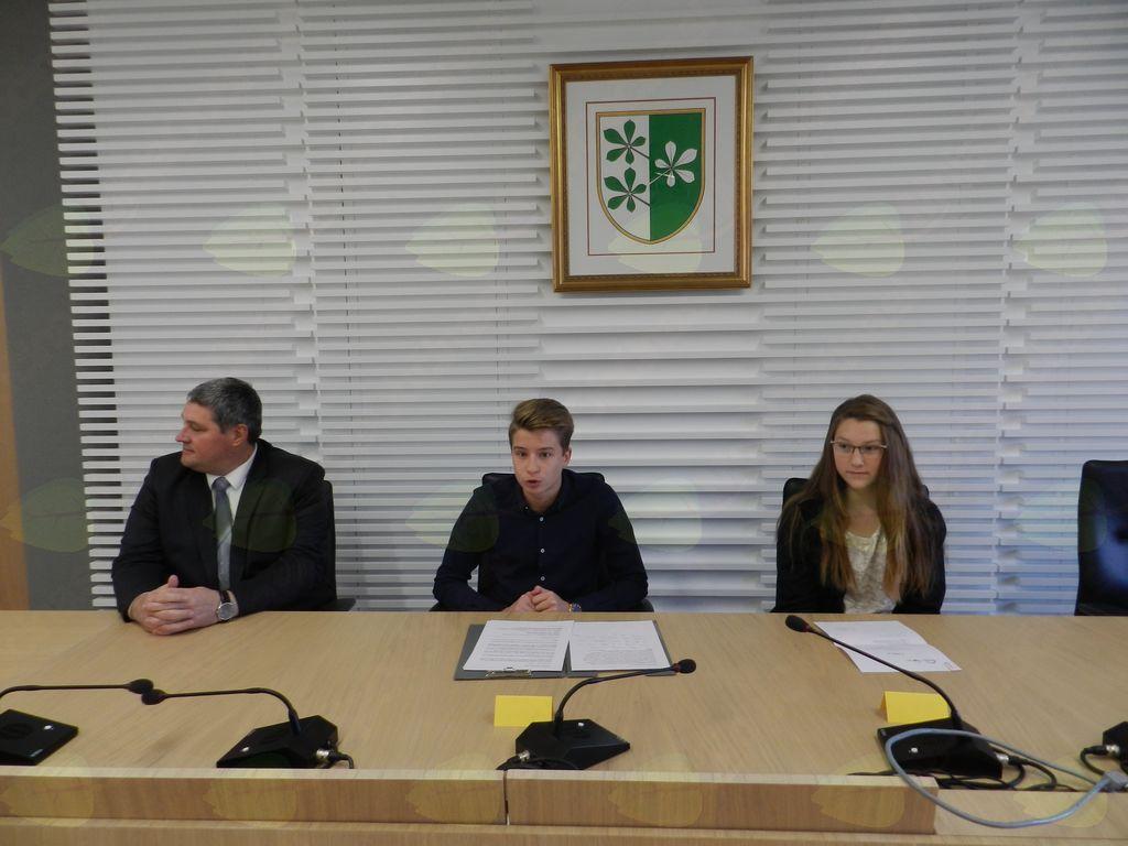 Sejo je vodil mini župan Občine Kidričevo Simon Žnider