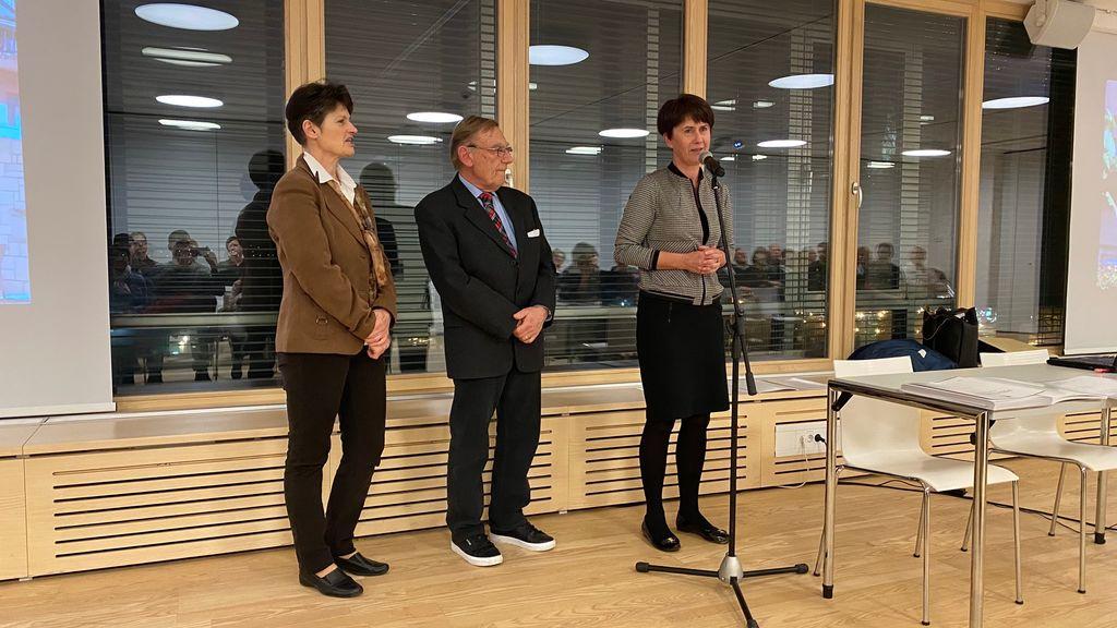 Dobitnike sta nagovorila predsednika TD Bled in Bohinjska Bela