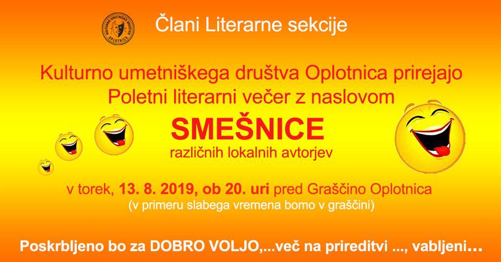 Poletni Literarni večer