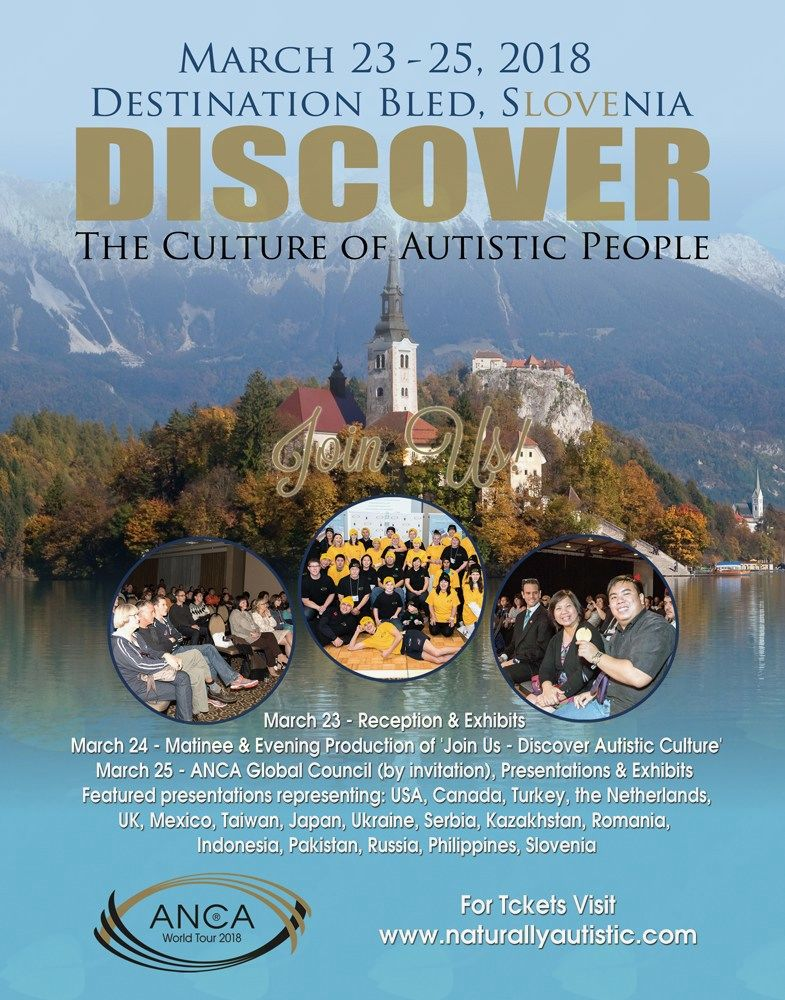 "ANCA World Tour 2018 - ""Join Us"" – Discover the Culture of Autistic People"