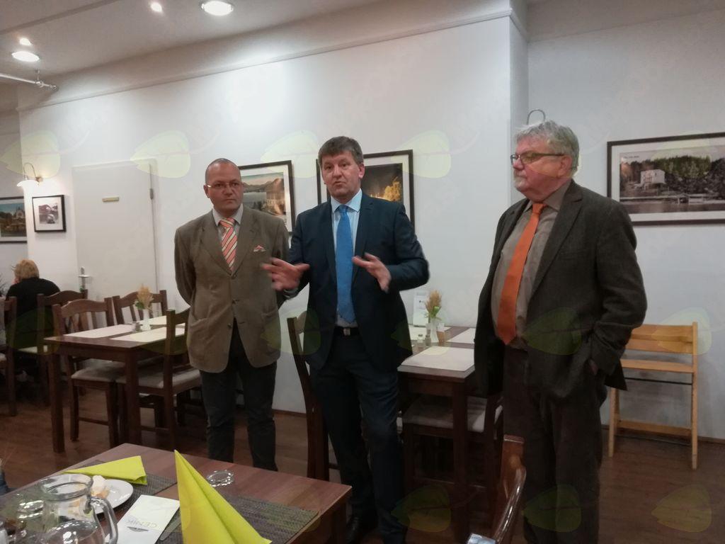 Evropski poslanec Franc Bogovič se je sinoči srečal z udeleženci projekta