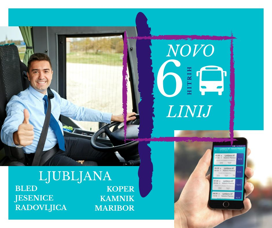 Hitra avtobusna linija Bled - Ljubljana - Bled