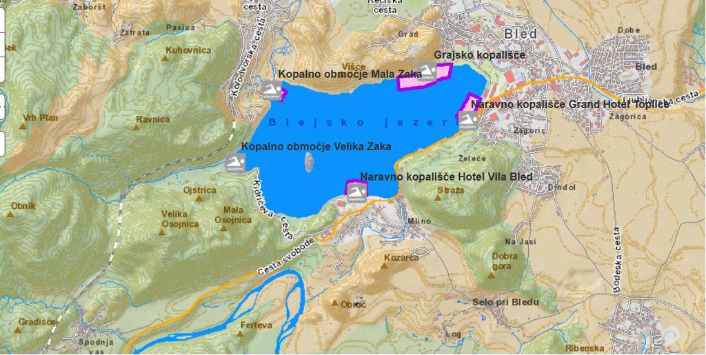 Vse kopalne vode v Blejskem in Bohinjskem jezeru so odlične kakovosti