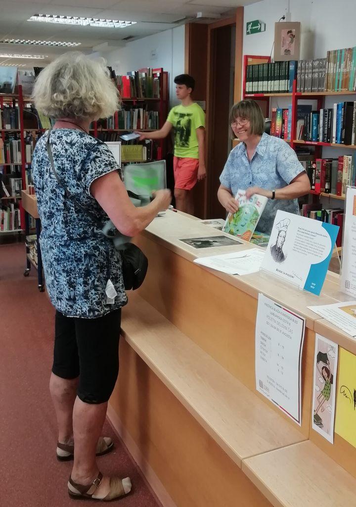 Blejska knjižnica podeželsko domača