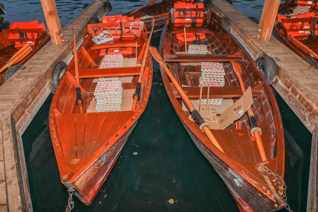Lučke na čolnih,  foto Miro Zalokar