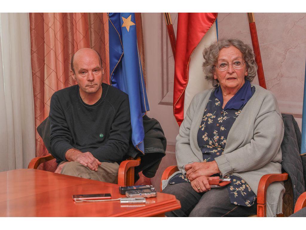 Miha Žvan, Društvo za varstvo okolja Bled in Sonja Dornik, Civilna inciativa Mlino; foto: Miro Zalokar