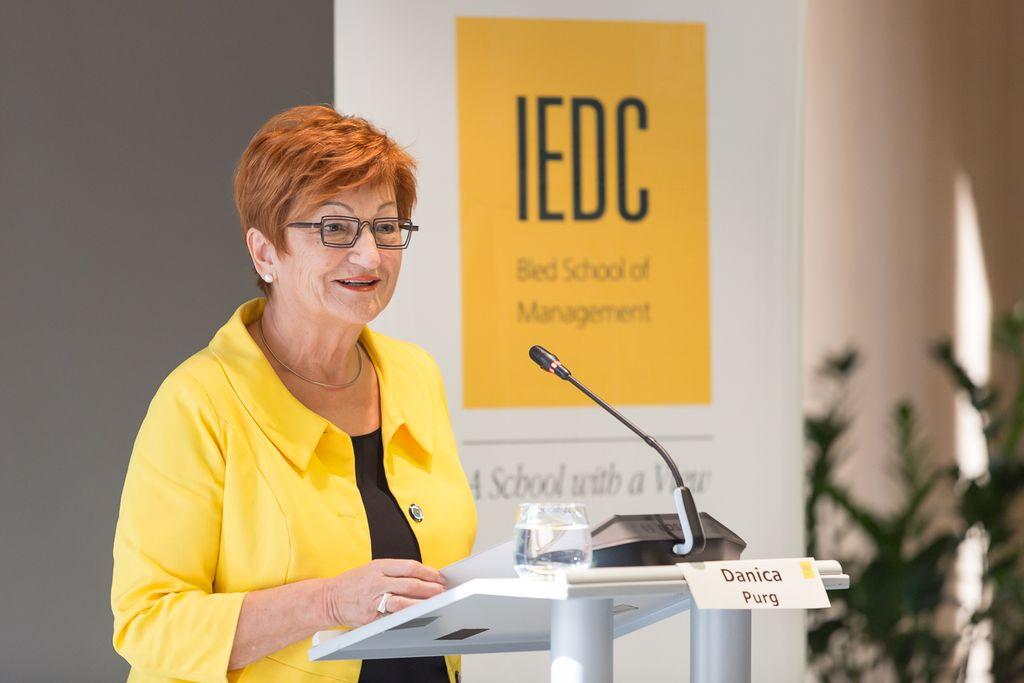prof. dr. Danica Purg, predsednica IEDC – Poslovne šole Bled