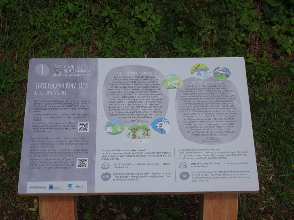 Blejski Zlatorog - učna pot okoli Blejskega jezera