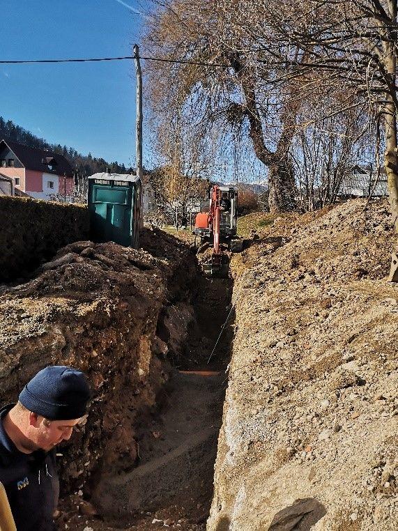 Infrastrukturna dela v Krajevni skupnosti Ribno