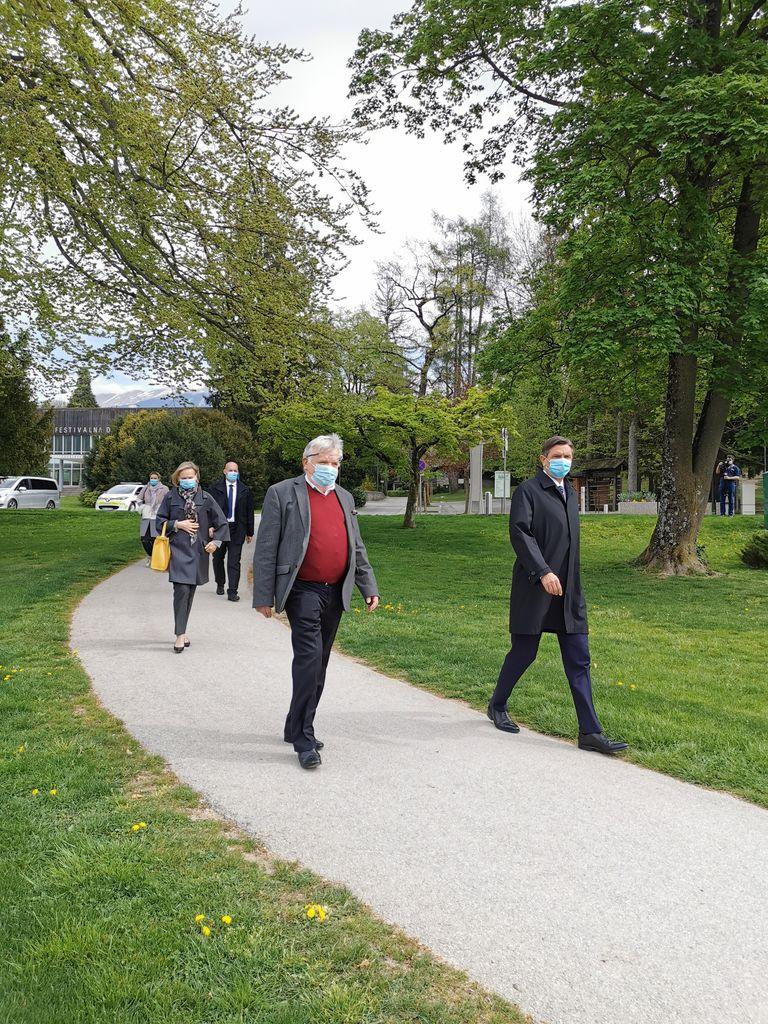 Obisk predsednika Pahorja april 2020.