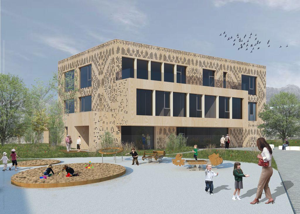 Gradnja Medgeneracijskega centra Bled gre h koncu