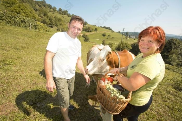 Na Domačiji Vovk si boste lahko ogledali domače živali in kupili lokalne dobrote za domov.