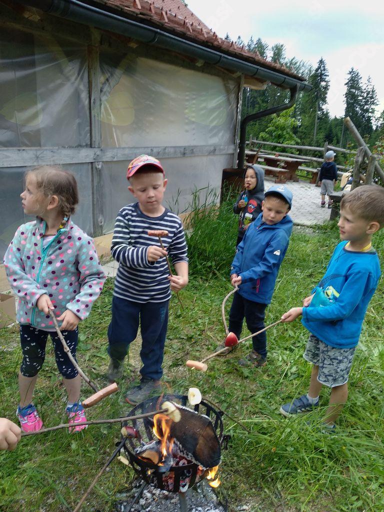 Zaključek mladih planincev na Čreti