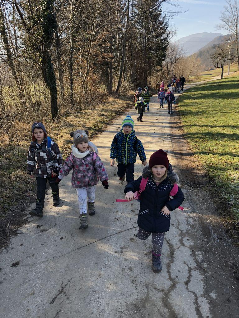 Mladi planinci Vrtca Vransko v Selu pri Vranskem