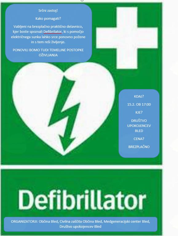 Delavnica uporabe Defibrilatorja AED