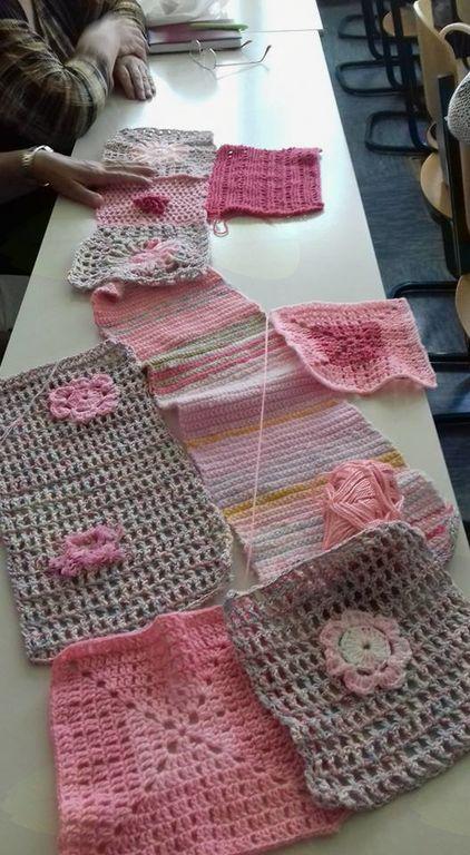 Projekt rožnate pletenine z Europo Donno
