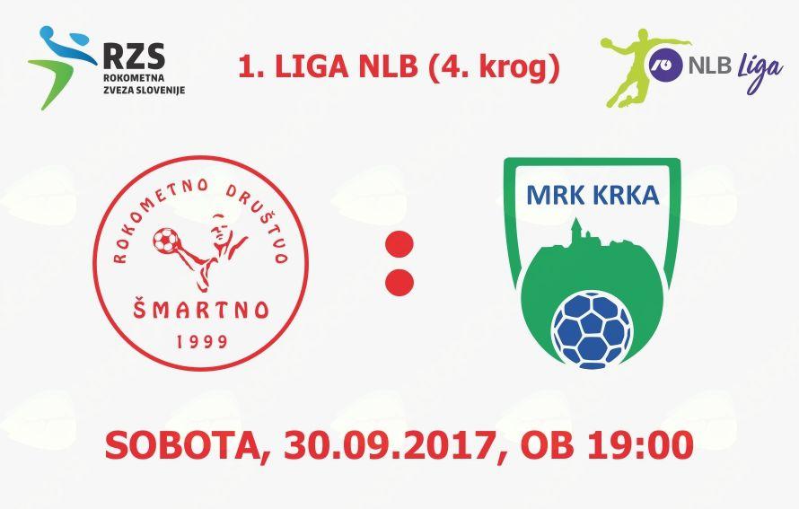 Rokometna tekma proti MRK Krka (1. LIGA NLB - 4.krog)