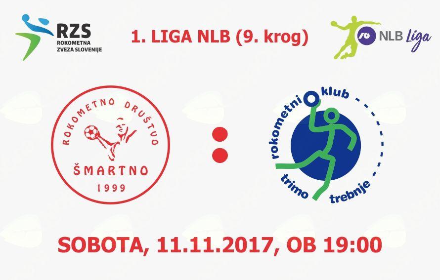 Rokometna tekma proti RK Trimo Trebnje (1. LIGA NLB - 9. krog)