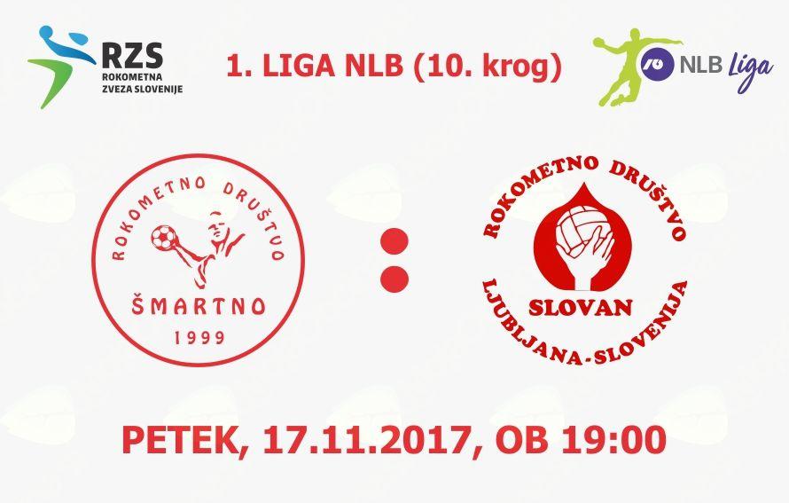 Rokometna tekma proti RD LL Grosist Slovan (1. LIGA NLB - 10. krog)