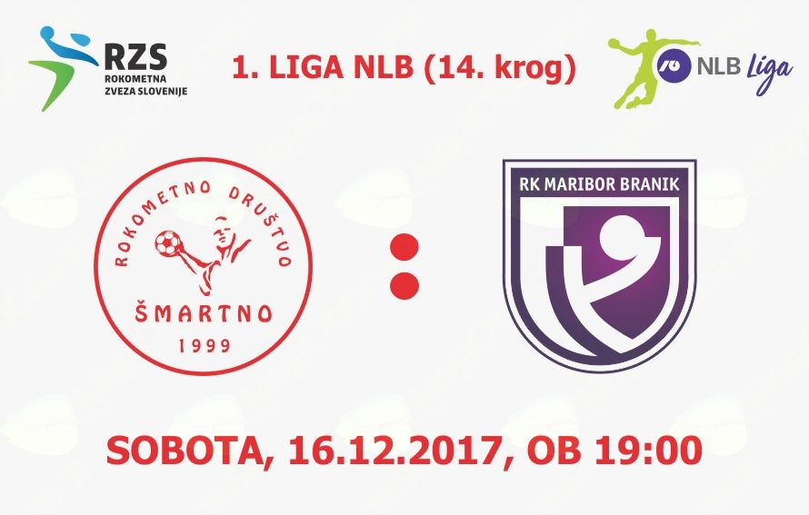 Rokometna tekma proti RK Maribor Branik (1. LIGA NLB - 14. krog)
