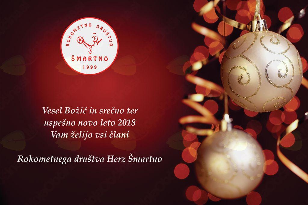 VESEL BOŽIČ IN SREČNO NOVO LETO 2018!