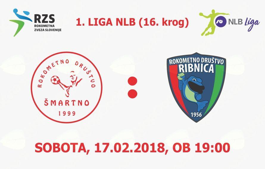 Rokometna tekma proti RD Riko Ribnica (1. LIGA NLB - 16. krog)