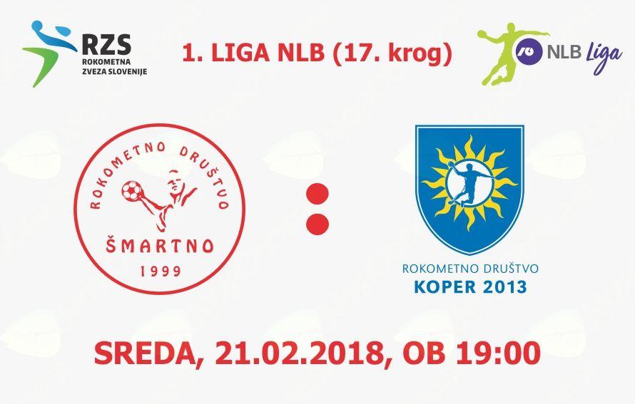 Rokometna tekma proti RD Koper 2013 (1. LIGA NLB - 17. krog)