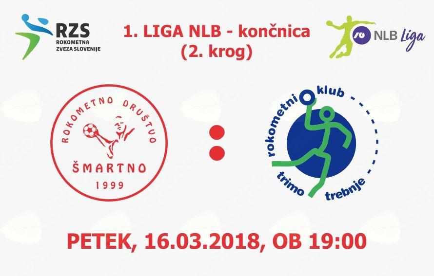 Rokometna tekma proti RK Trimo Trebnje (1. LIGA NLB - 2. krog končnice)