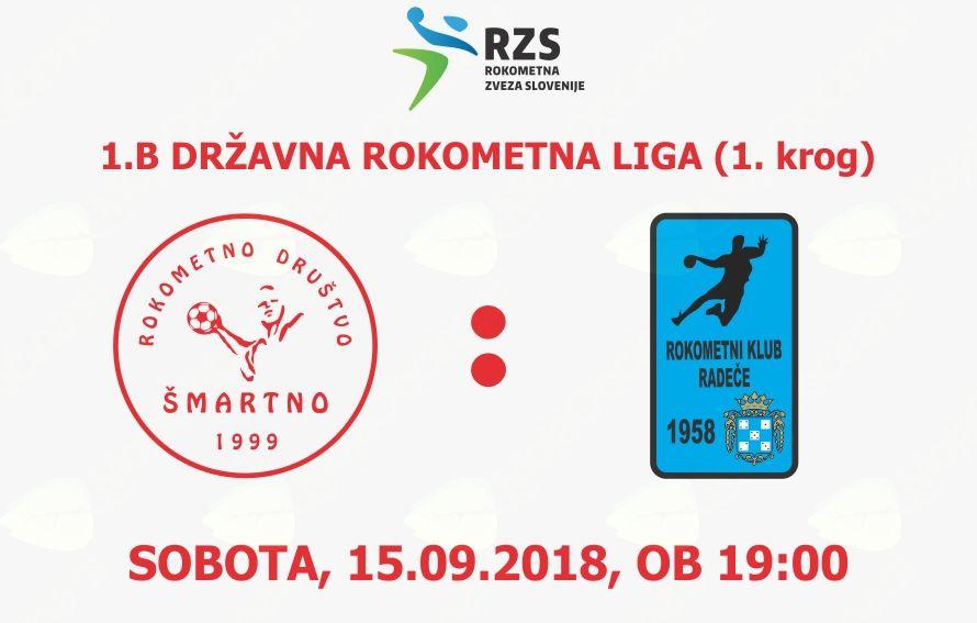 Rokometna tekma proti RK Radeče Papir Nova (1.B DRL - 1. krog)