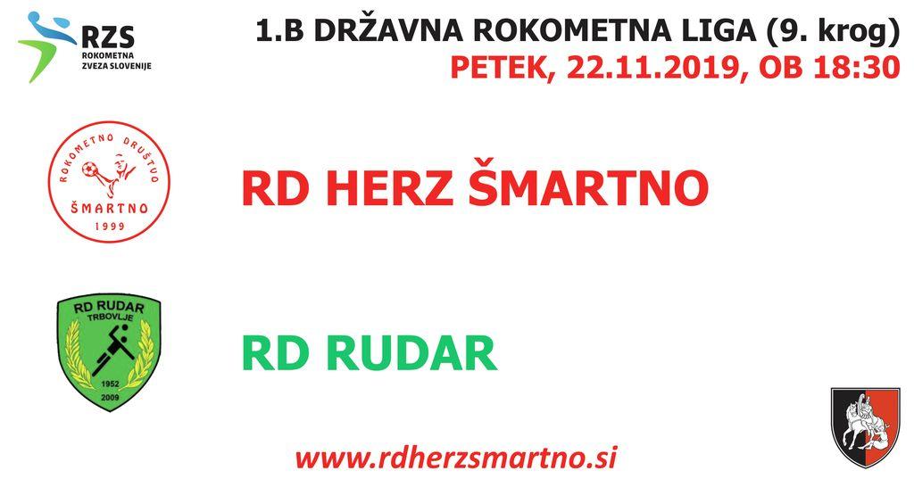 Rokometna tekma proti RD RUDAR (1.B DRL - 9. krog)
