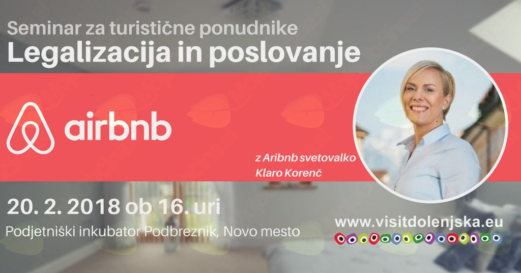 Airbnb - legalizacija in poslovanje (-50% za podjetnike iz Mirne Peči)