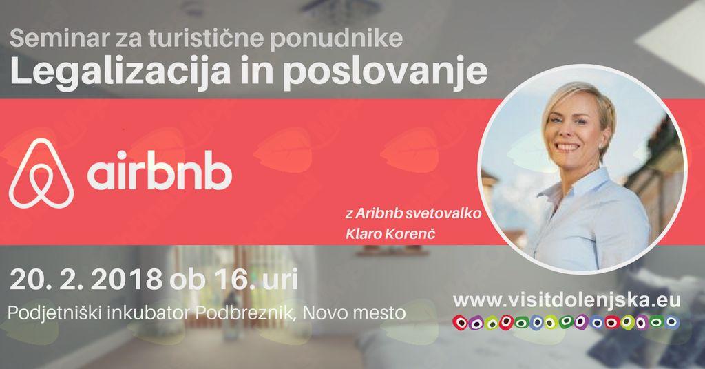 Airbnb - legalizacija in poslovanje (-50% za podjetnike iz Žužemberka)