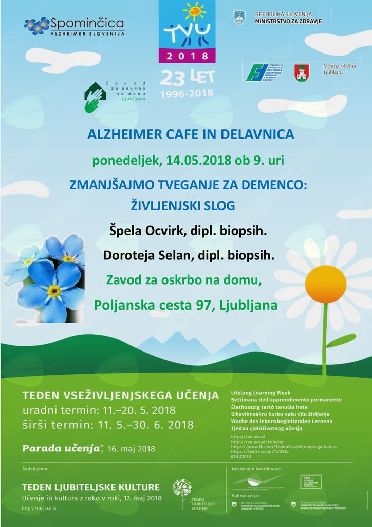 Alzheimer Cafe in delavnica