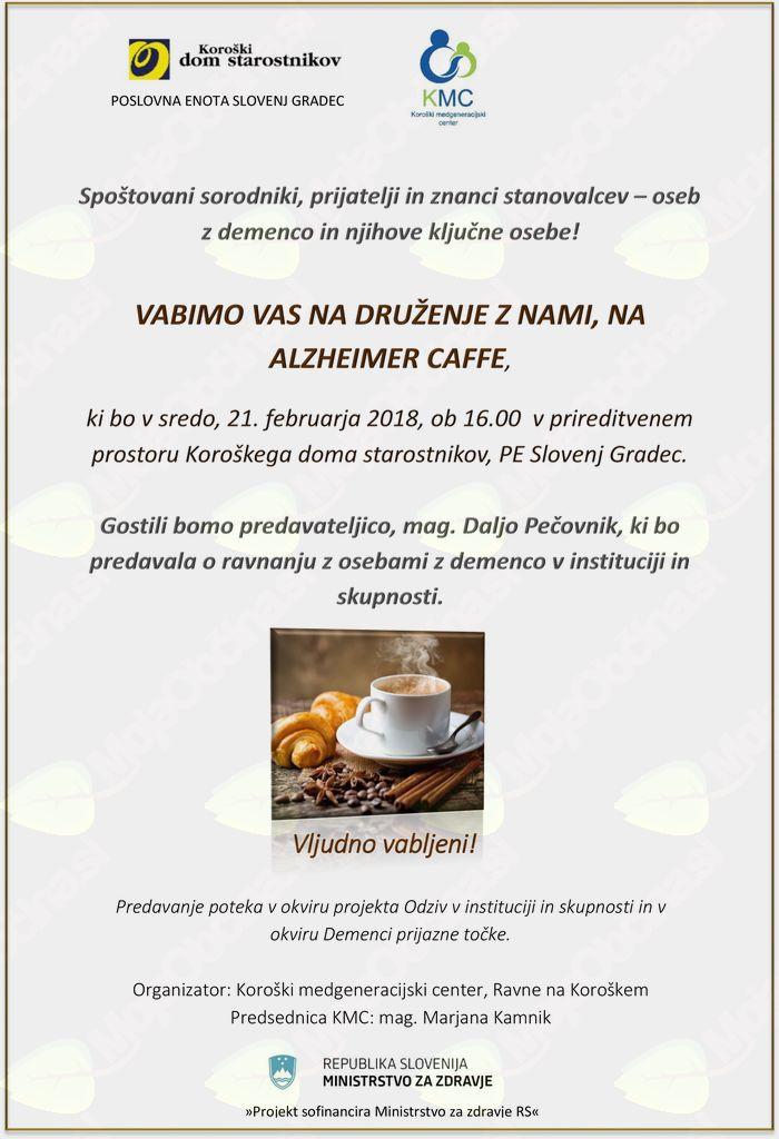 VABILO NA ALZHEIMER CAFFE