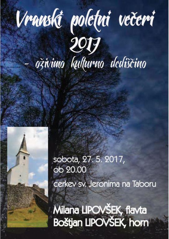 VRANSKI POLETNI VEČERI 2017 - oživimo kulturno dediščino