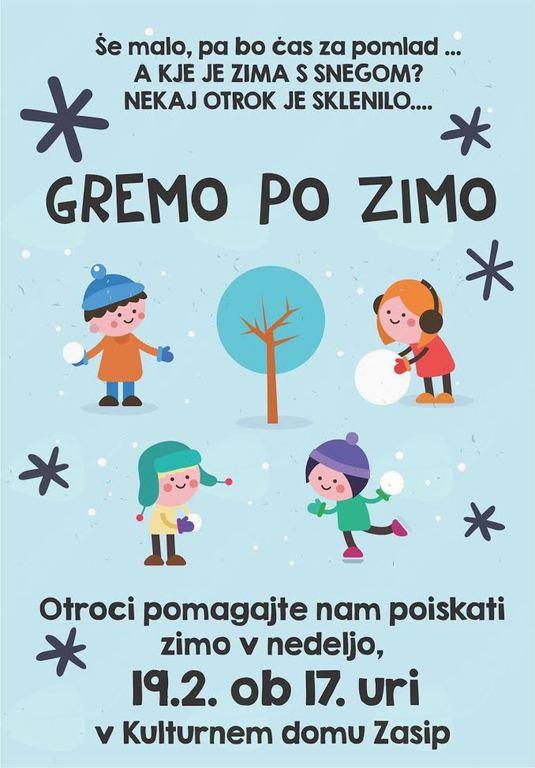 Otroška igra Gremo po zimo