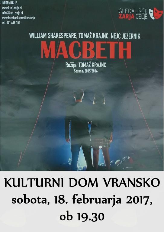 MACBETH, gledališki abonma in izven