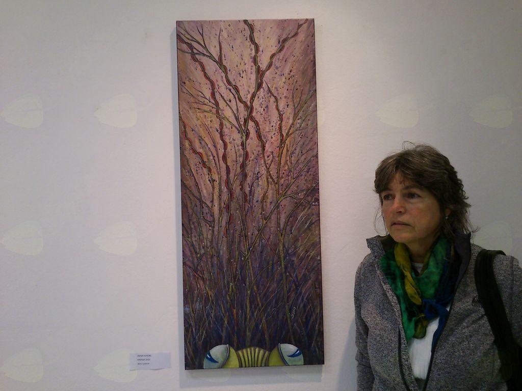 Irena Gorenc ob sliki