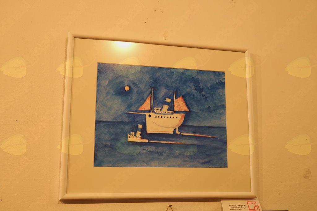 Leonida Goropevšek je prejela certifikat za ta akvarel