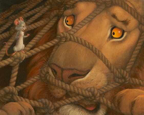Lev in miška na srečanju najboljših lutkarjev Slovenije