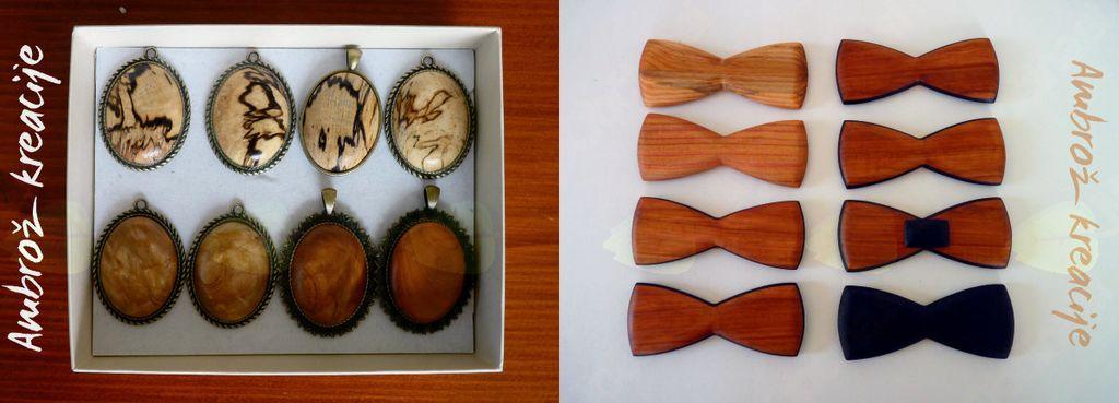 Na voljo imamo veliko različnih metuljčkov in medaljonov