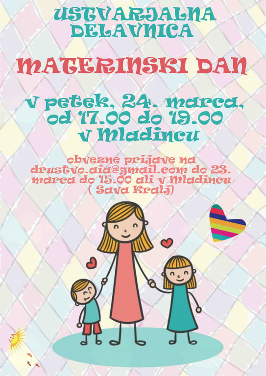 Ustvarjala delavnica - Materinski dan