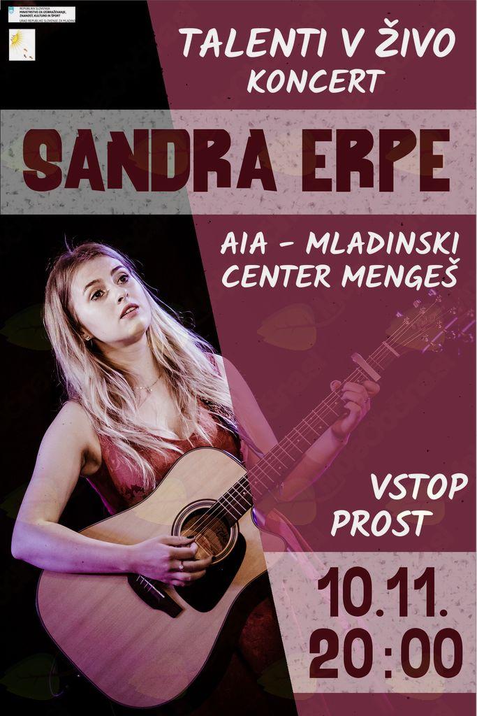 Talenti v živo - Sandra Erpe